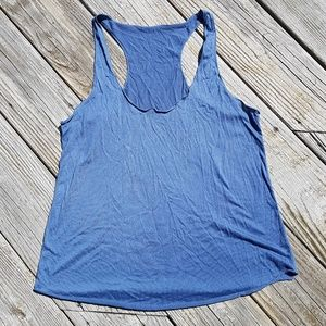 H&M Divided Blue Muscle Tank Top Size Large